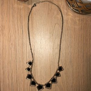 Francesca's Collections Jewelry - Black Pentagon Statement Necklace